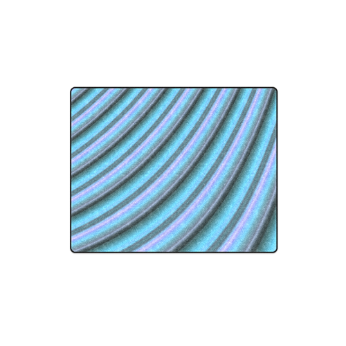"Glossy Light Blue Gradient Stripes Blanket 40""x50"""