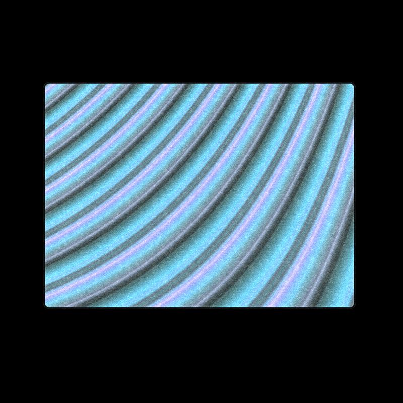 "Glossy Light Blue Gradient Stripes Blanket 58""x80"""