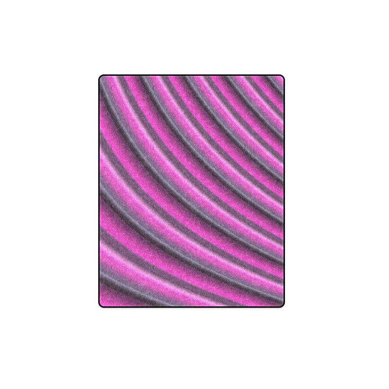 "Glossy Pink Gradient Stripes Blanket 40""x50"""