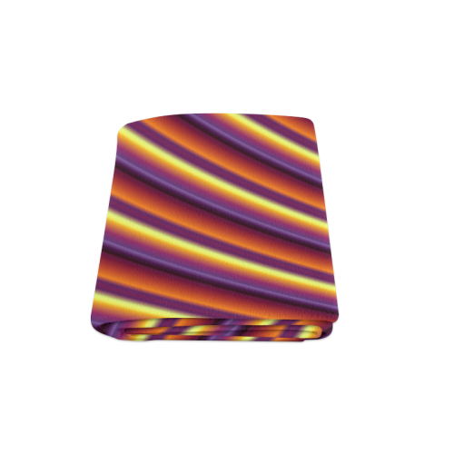 """Glossy Colorful Gradient Stripes Blanket 58""""x80"""""""
