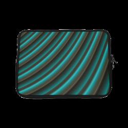 Glossy Green Gradient Stripes Laptop Sleeve 10''