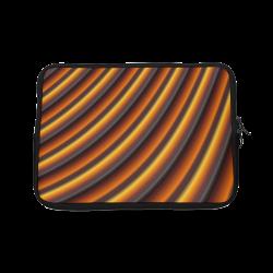 Glossy Honey Caramel Gradient Stripes Laptop Sleeve 10''