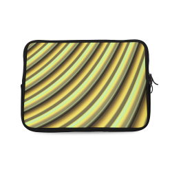Glossy Yellow Banana Gradient Stripes Laptop Sleeve 10''