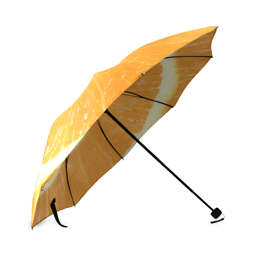 Citrus Orange Droste Spiral Foldable Umbrella (Model U01)
