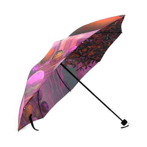 Bittersweet Opinion, Bronze Raspberry Maple Tree Foldable Umbrella (Model U01)