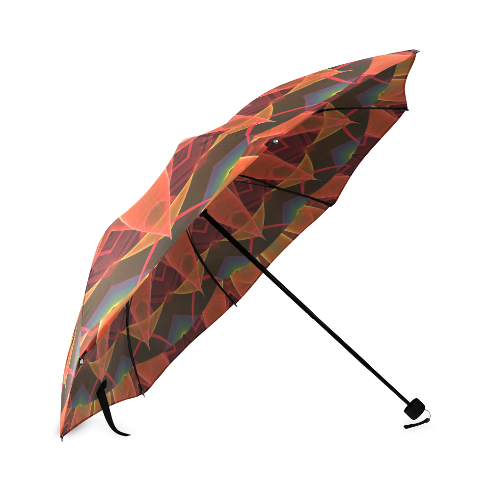 Radiance and Light, Orange Brown Awakening Foldable Umbrella (Model U01)
