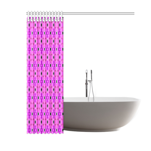 """Circle Lattice of Floral Pink Violet Modern Quilt Shower Curtain 60""""x72"""""""