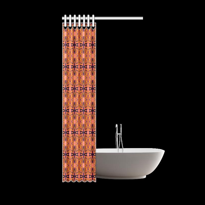 "Peach Purple Abstract Moroccan Lattice Quilt Shower Curtain 36""x72"""