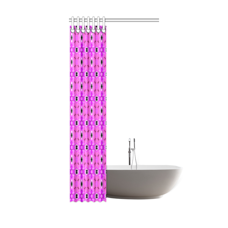 """Circle Lattice of Floral Pink Violet Modern Quilt Shower Curtain 36""""x72"""""""