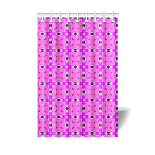 """Circle Lattice of Floral Pink Violet Modern Quilt Shower Curtain 48""""x72"""""""