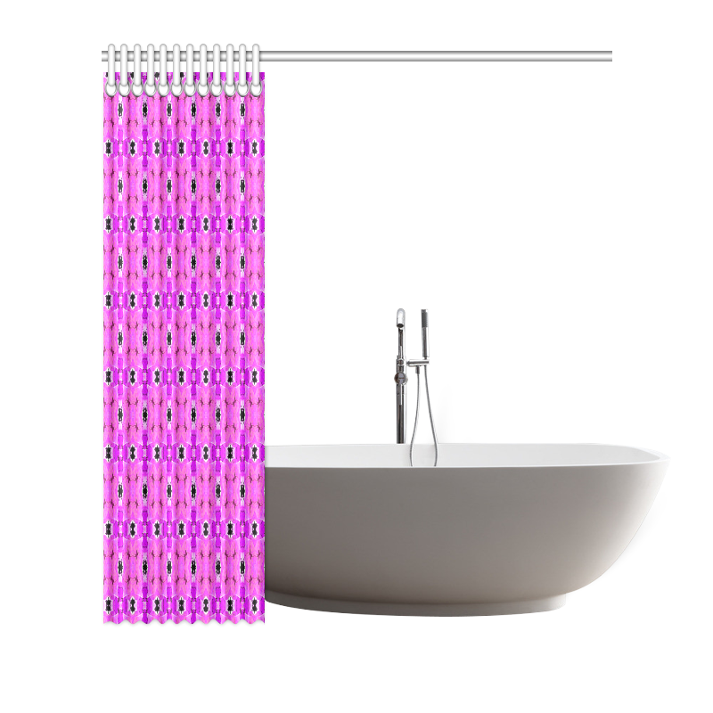 """Circle Lattice of Floral Pink Violet Modern Quilt Shower Curtain 66""""x72"""""""