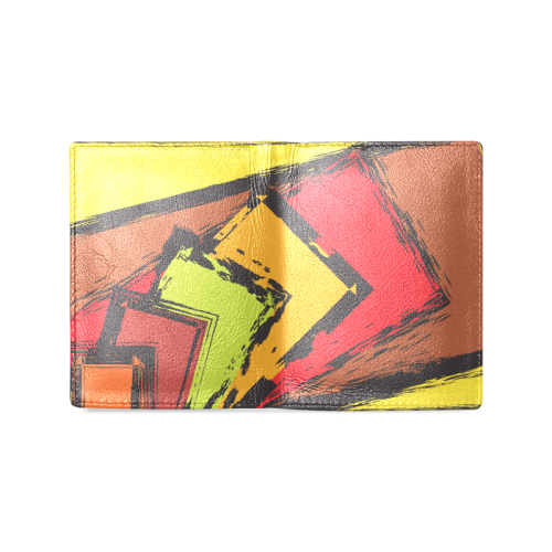 Yellow Brick Road Men's Leather Wallet (Model 1612)