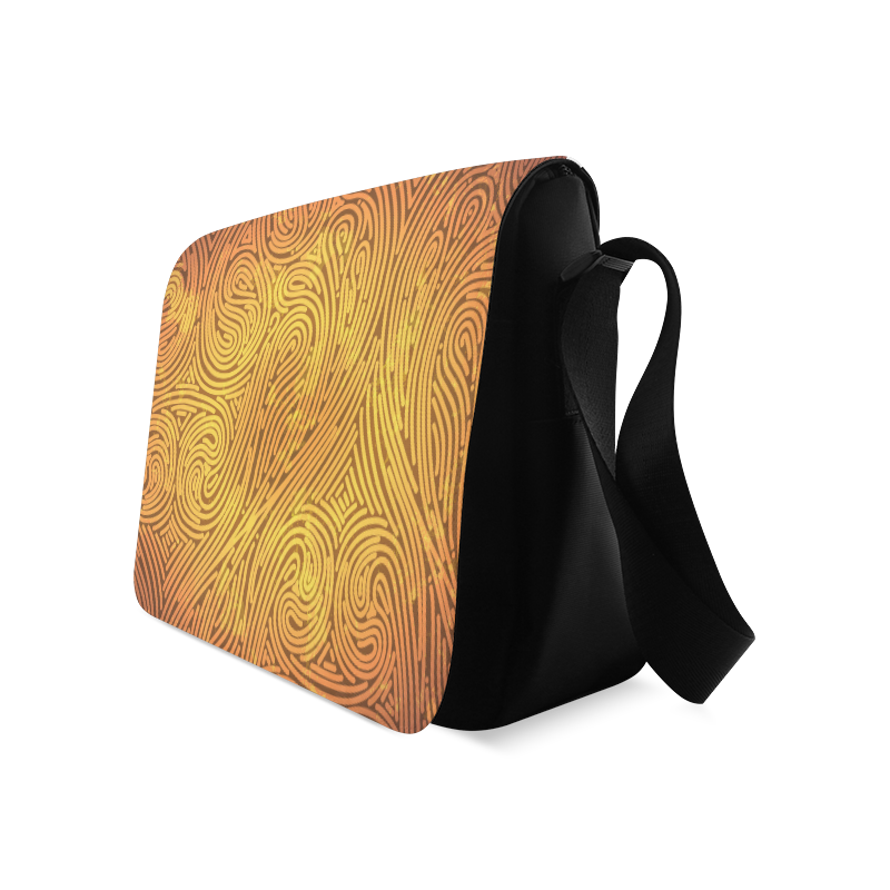 gold leaf abstract pattern Messenger Bag (Model 1628)