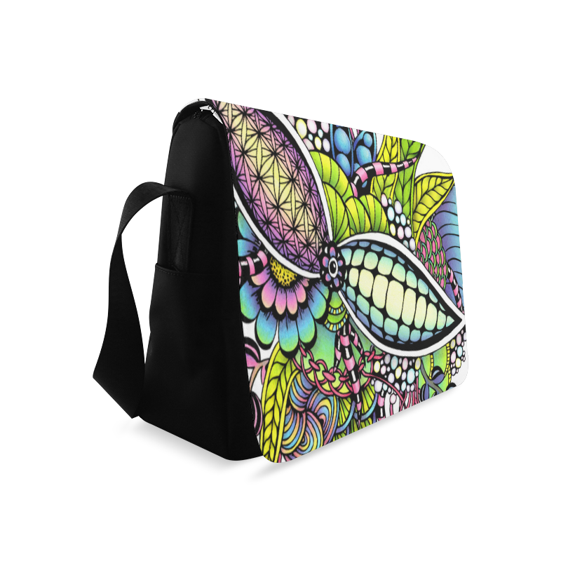Bright fantasy flower in bright colors Messenger Bag (Model 1628)