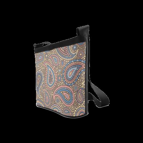 yellow blue pink paisley mosaic pattern Crossbody Bags (Model 1613)