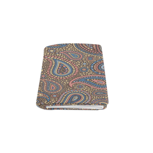 "yellow blue pink paisley mosaic pattern Blanket 50""x60"""