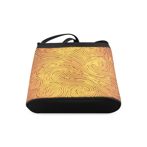 gold leaf abstract pattern Crossbody Bags (Model 1613)
