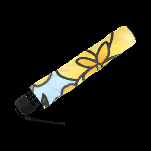 buttercup flower field yellow floral arrangement Foldable Umbrella (Model U01)