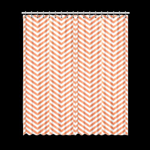"orange and white classic chevron pattern Window Curtain 52""x120""(Two Piece)"