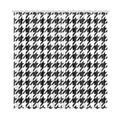 """black and white houndstooth classic pattern Window Curtain 52""""x108""""(Two Piece)"""