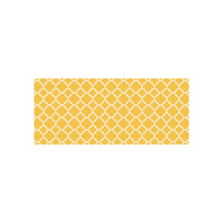 sunny yellow white quatrefoil classic pattern Cazorla Sports Bottle(13.5OZ)