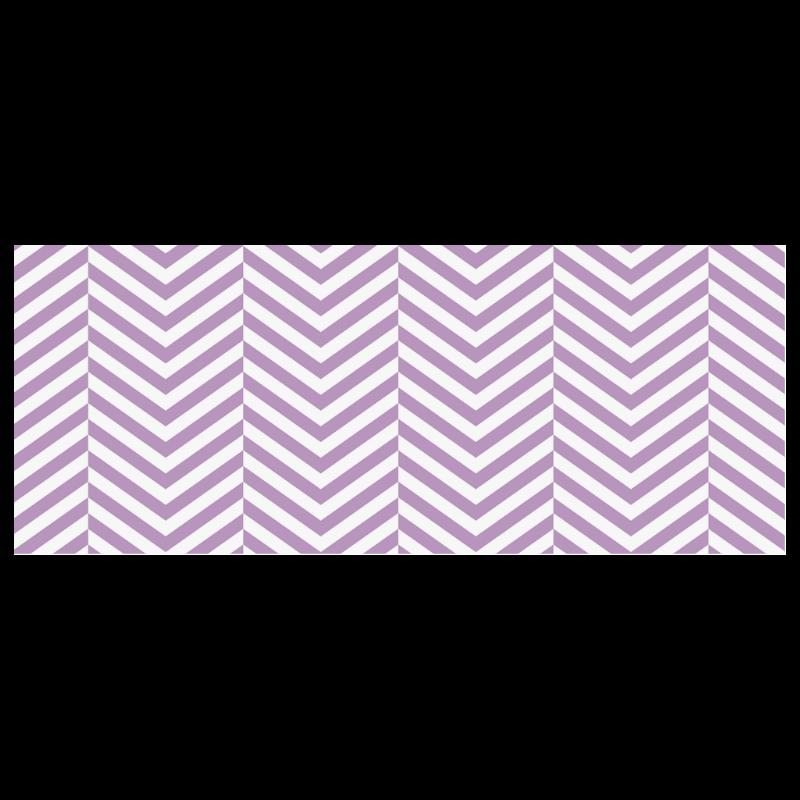 lilac purple and white classic chevron pattern Custom Morphing Mug