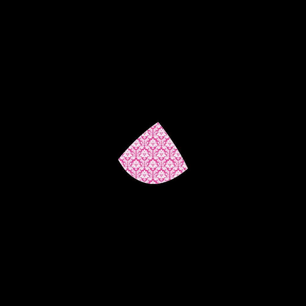 damask pattern hot pink and white Custom Bikini Swimsuit