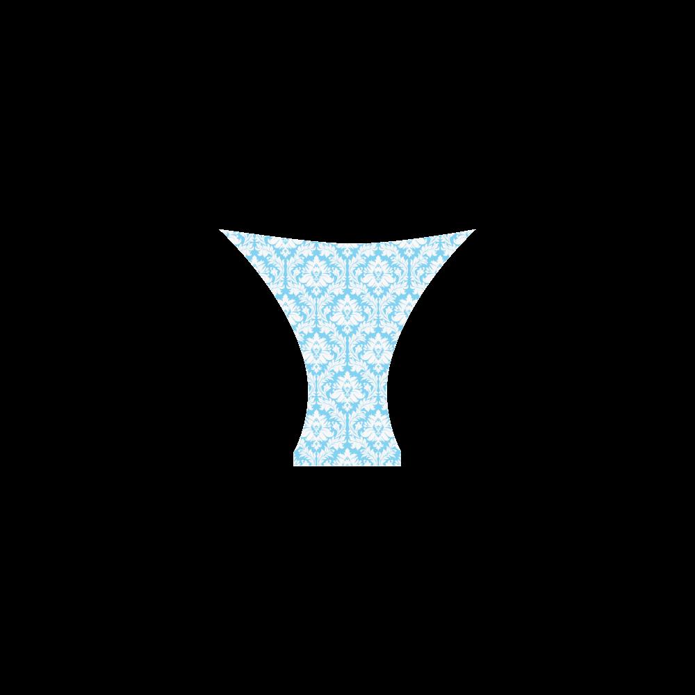 damask pattern bright blue and white Custom Bikini Swimsuit