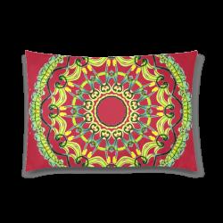 "Lights Leaves Opera Green Flowers Theater Mandala Crimson Custom Zippered Pillow Case 20""x30"" (one side)"