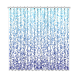 """blue ombre feather pattern Window Curtain 52""""x108""""(Two Piece)"""
