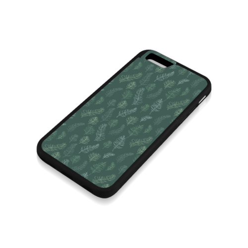 green whimsical feather leaves pattern Rubber Case for iPhone 6/6s