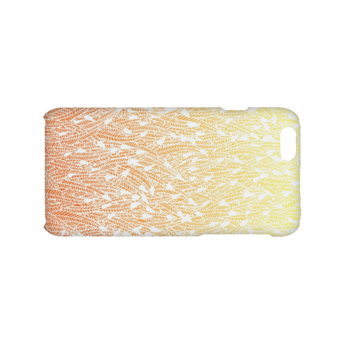 yellow orange ombre feather pattern white Hard Case for iPhone 6/6s
