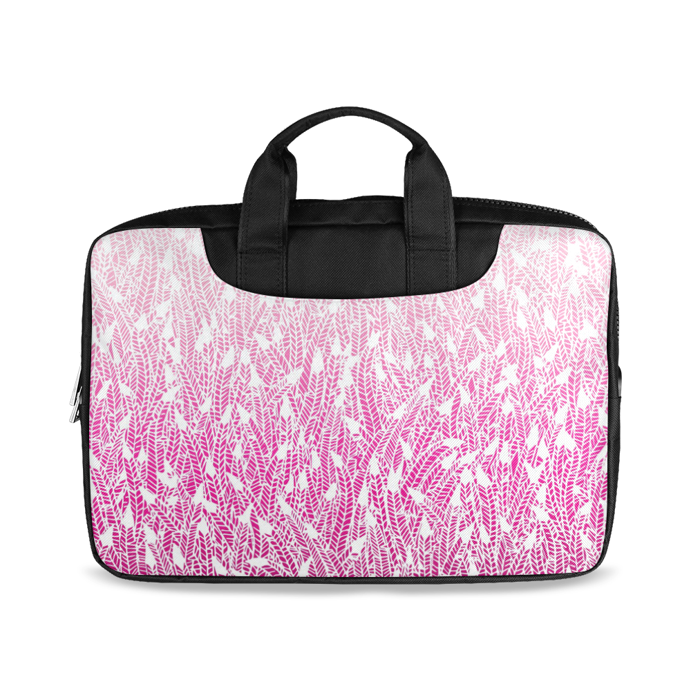 "pink ombre feathers pattern white Macbook Air 15""(Twin sides)"
