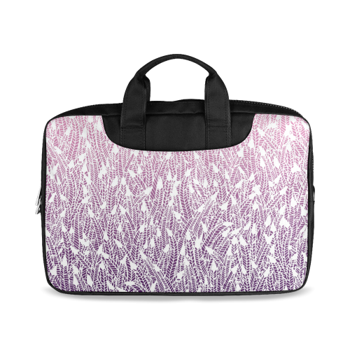 """pink purple ombre feather pattern white Macbook Air 11""""(Twin sides)"""