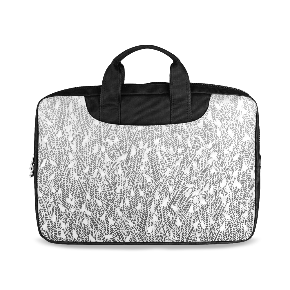 """grey ombre feathers pattern white Macbook Air 15""""(Two sides)"""