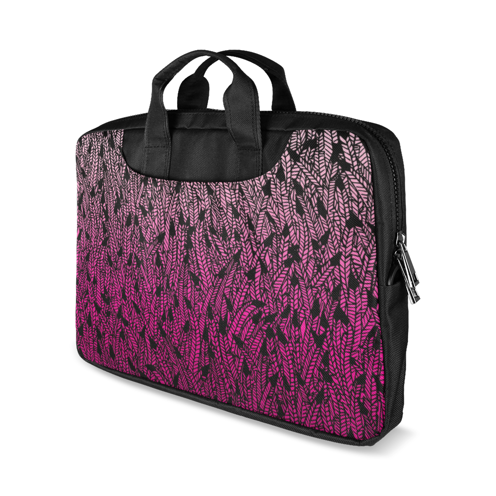 "pink ombre feathers pattern black Macbook Air 11""(Two sides)"