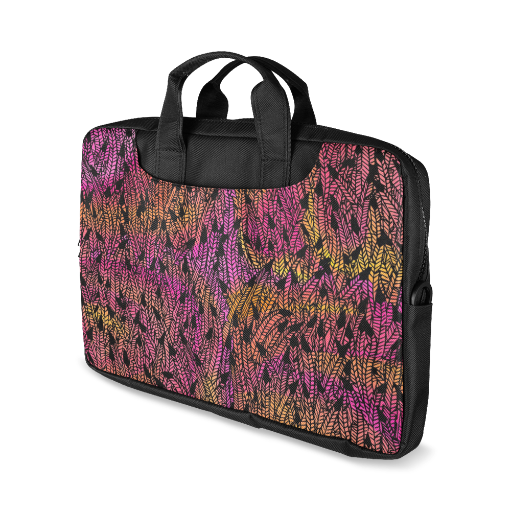 """pink yellow black feather pattern Macbook Air 13""""(Twin sides)"""