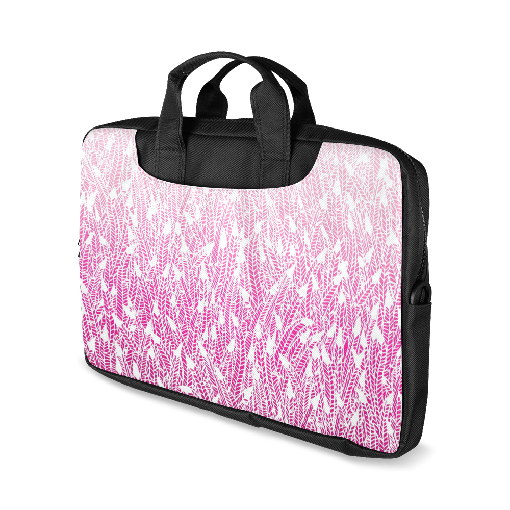 """pink ombre feathers pattern white Macbook Air 15""""(Two sides)"""