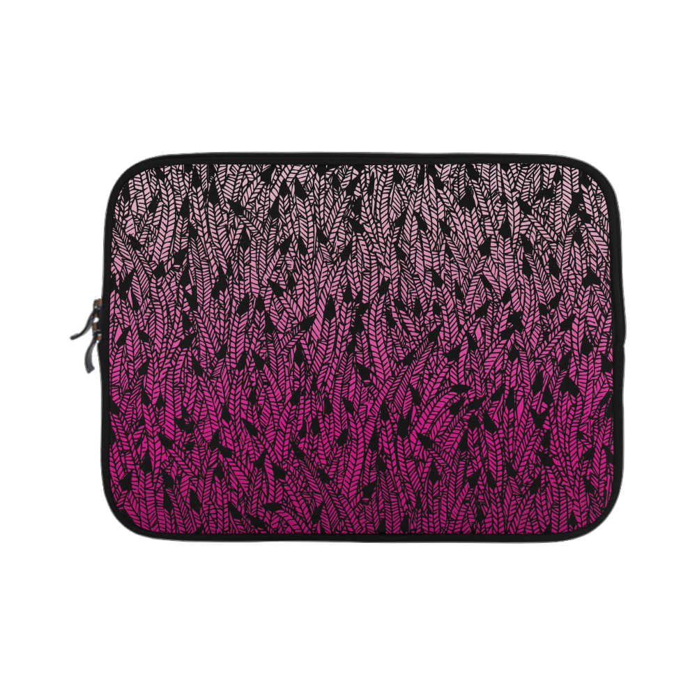 pink ombre feathers pattern black Microsoft Surface Pro 3/4