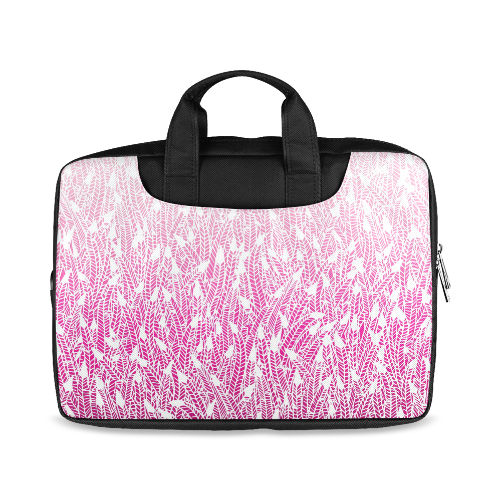"""pink ombre feathers pattern white Macbook Air 13""""(Twin sides)"""