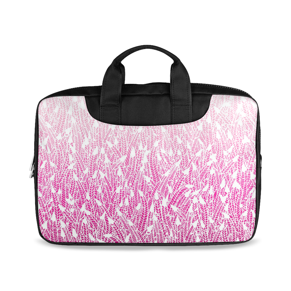 "pink ombre feathers pattern white Macbook Air 11""(Twin sides)"
