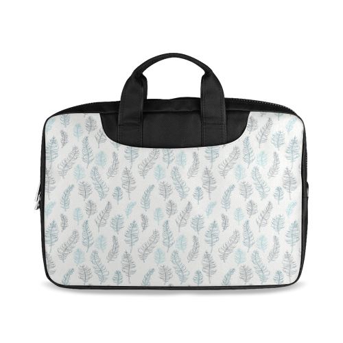 "blue on grey whimsical feathers pattern Macbook Air 13""(Twin sides)"