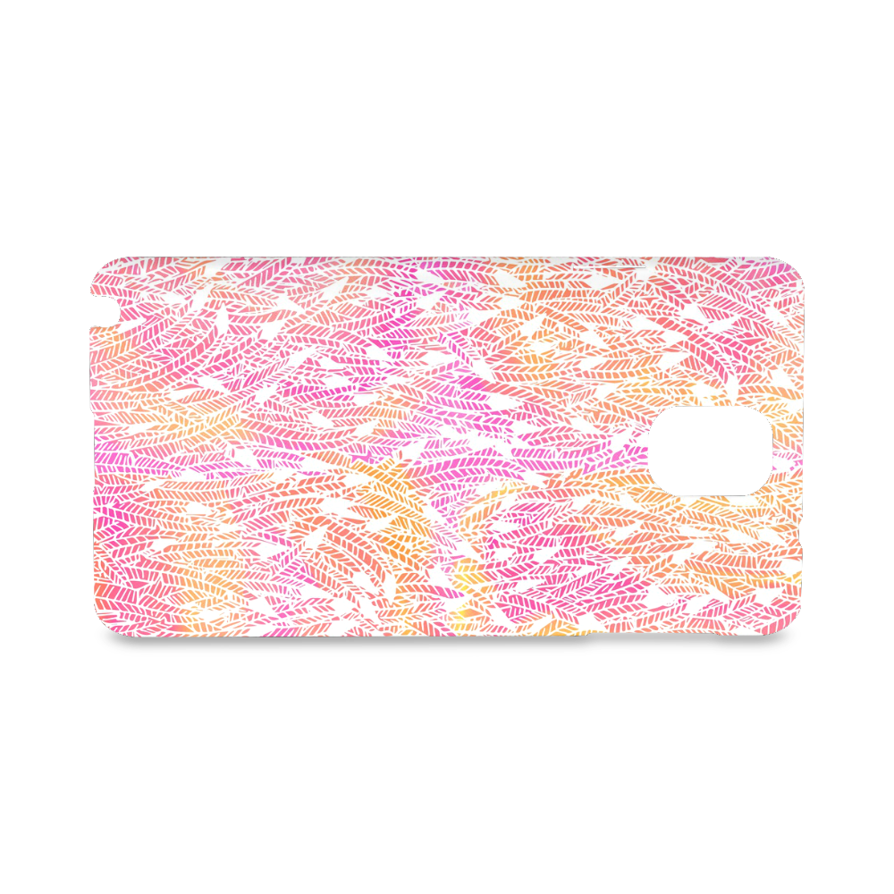 pink yellow white feather pattern Hard Case for Samsung Galaxy Note 3