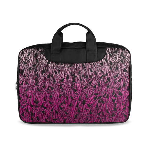 "pink ombre feathers pattern black Macbook Air 15""(Twin sides)"
