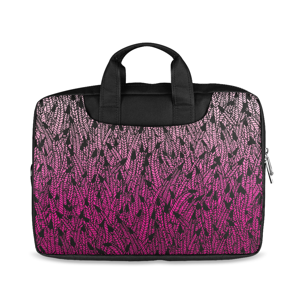 "pink ombre feathers pattern black Macbook Air 13""(Two sides)"