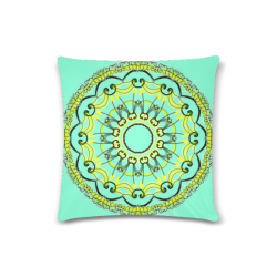"Lights Leaves Opera Green Flowers Theater Mandala Aquamarine Custom Zippered Pillow Case 16""x16"" (one side)"