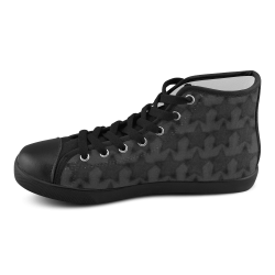 Zappy Black Stars Men's High Top Canvas Shoes (Model 002)