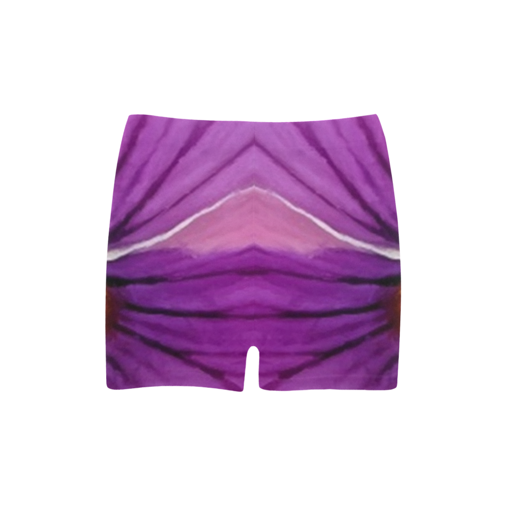 Pink and Purple Pansy Briseis Skinny Shorts (Model L04)