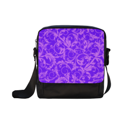 Vintage Swirls Amethyst Ultraviolet Purple Crossbody Nylon Bags (Model 1633)