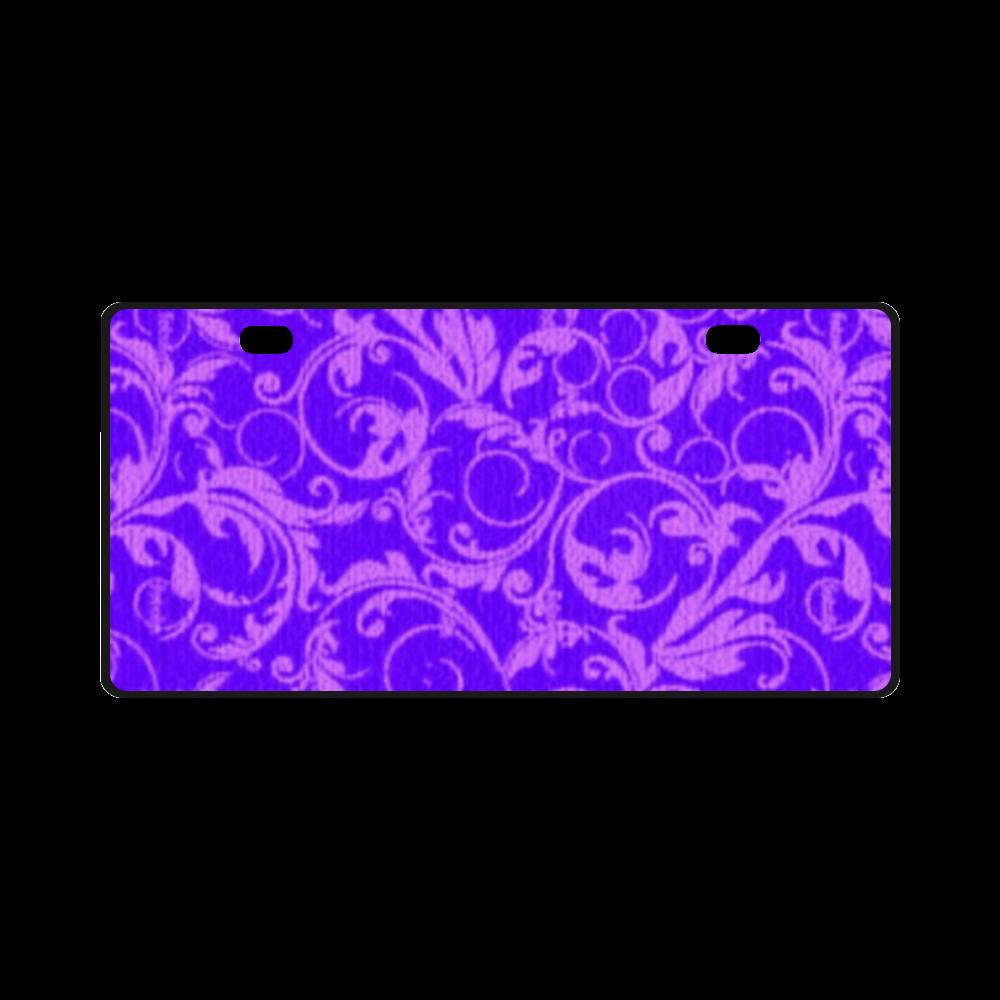 Vintage Swirls Amethyst Ultraviolet Purple License Plate
